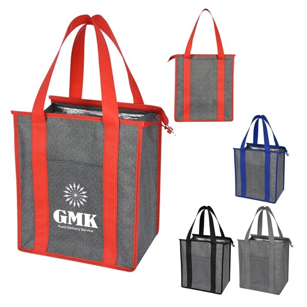Promotional Heathered Non - Woven Cooler Tote Bag