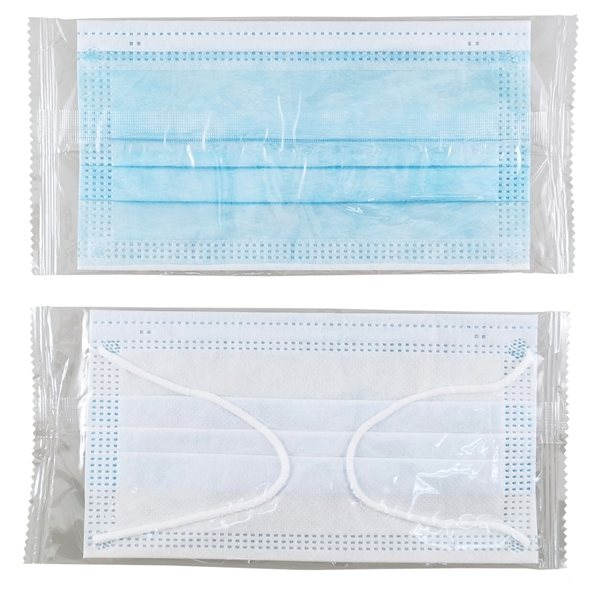 Promotional Individually Wrapped Disposable 3- Ply Mask