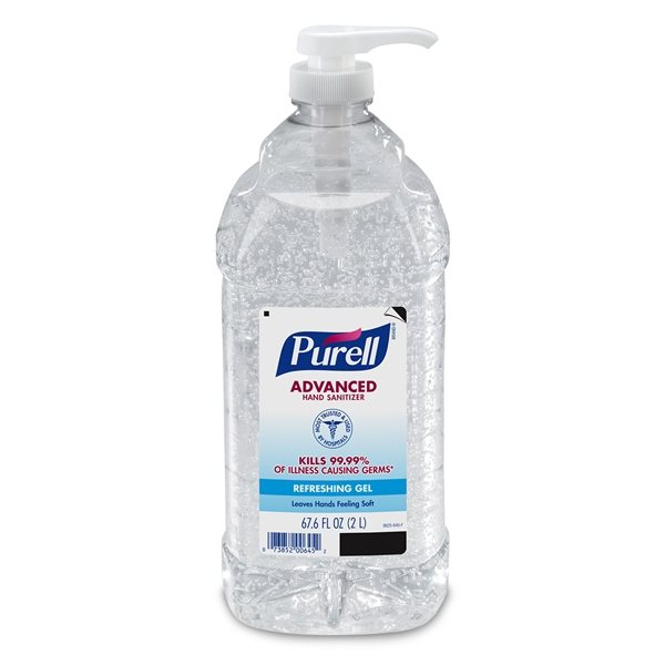 Promotional 2 Liter Purell(R) Bottle With Pump