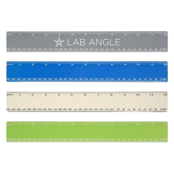 Promotional 12 Wheat Ruler