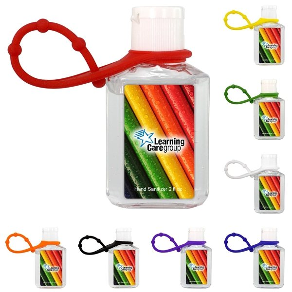 Promotional Travel 2 Oz. Full Color Hand Sanitizer With Grip