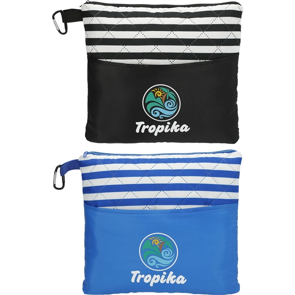Promotional Portable Beach Blanket and Pillow