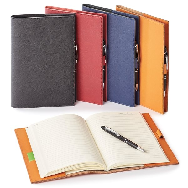 Promotional Toscano Genuine Leather Refillable Journal Combo