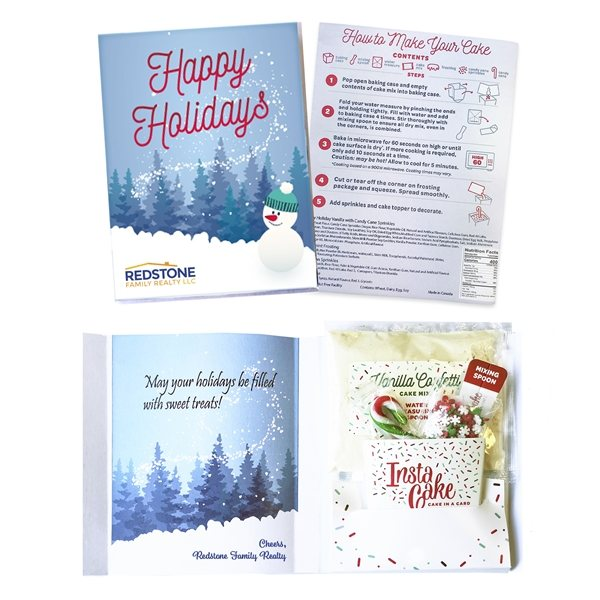Promotional Instacake Holiday Cake In A Card
