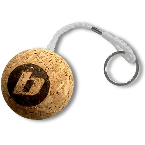 Promotional Floatie Recycled Cork Keychains - Round / Ball
