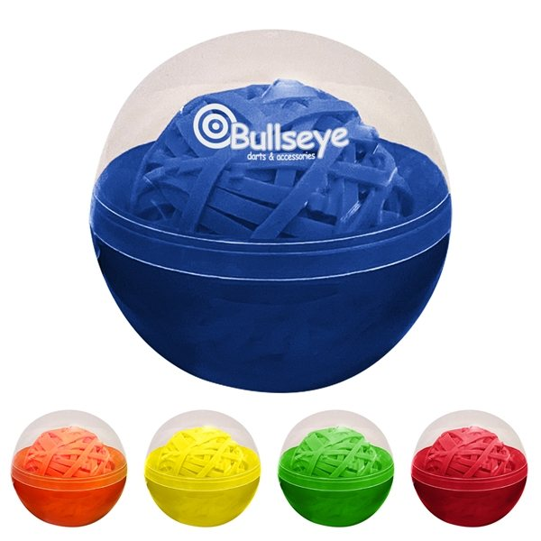 Promotional Rubber Band Ball In Case