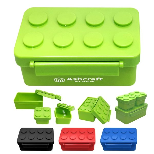 Promotional Building Blocks Stackable Lunch Containers
