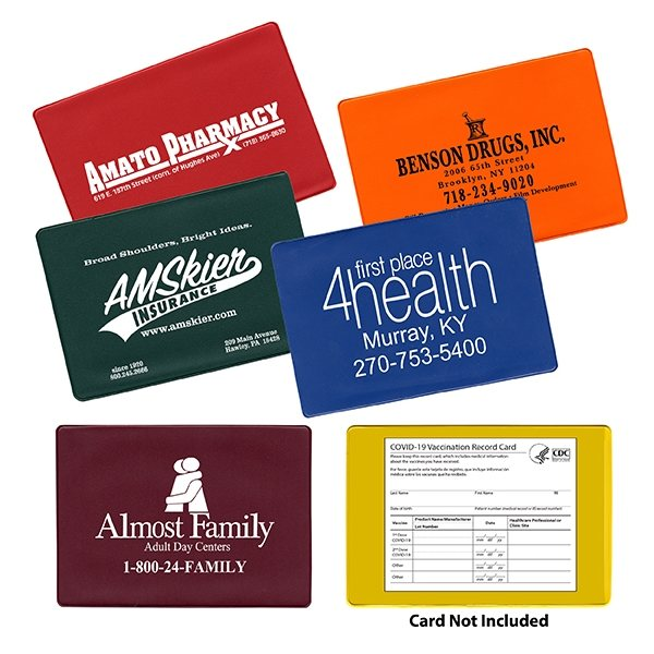 Promotional COVID -19 Vaccination Card Holder