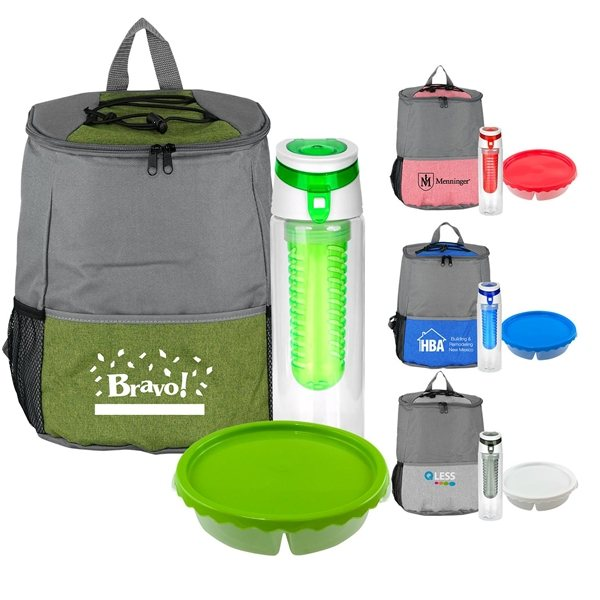 Promotional Curvy Round Backpack Set