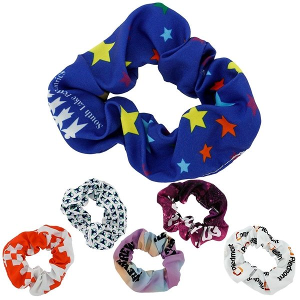Promotional Full Color Hair Scrunchie