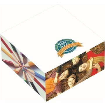 Bic 3'' X 3'' X 1.5'' Adhesive Sticky Note Cube Pad