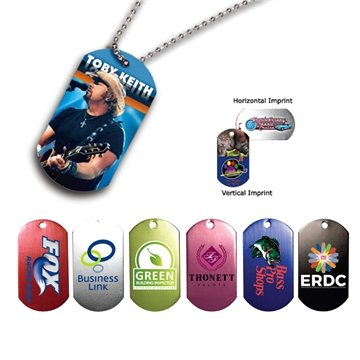 Dog Tag , 23-1/2'' Ball Chain with Full Color Digital Imprinting