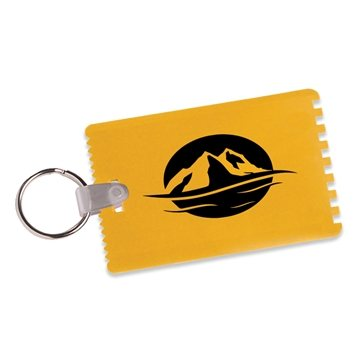 Credit Card Ice Scrapers with Key Ring