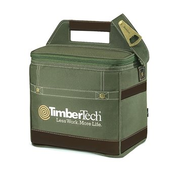 Polyester 18-Can Capacity Loden Precision Bottle Cooler Bag