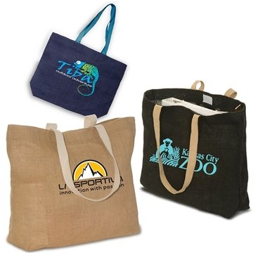 Eco- Green Jute Tote with Cotton Web Handles