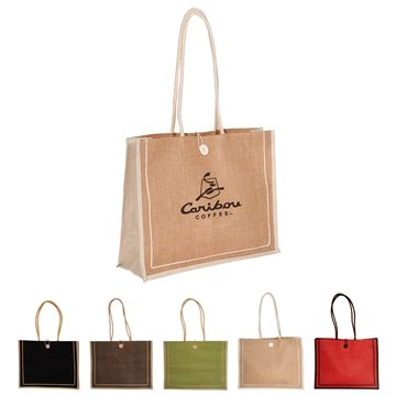 Milan Jute Tote with Cotton Rope Handles