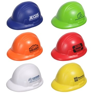 Promotional Safety Hat Stress Reliever