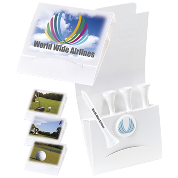 4-1 Golf Tee White Packet - 3-1/4'' Tee