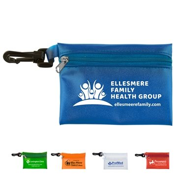 Translucent Zipper Storage Pouch Bag with Plastic Hook
