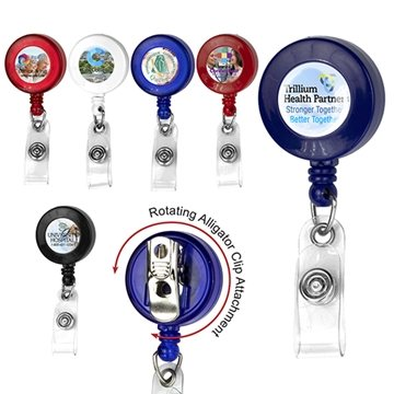 30'' Retractable Badge Reel With Badge Holder