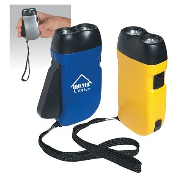 Hand Squeeze Flashlight With Wrist Strap