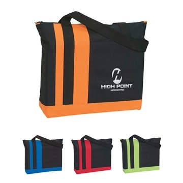 600D Polyester Tri-Band Tote Bag