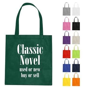 Custom Non-Woven Tote Bag With Multi Color Choices - 15'' X 16''
