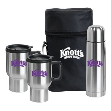 Pacifica Stainless Steel Travel Drinkware Set