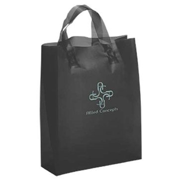 Lily Frosted Plastic Flexo Ink Tote Bag - 8'' x 10''