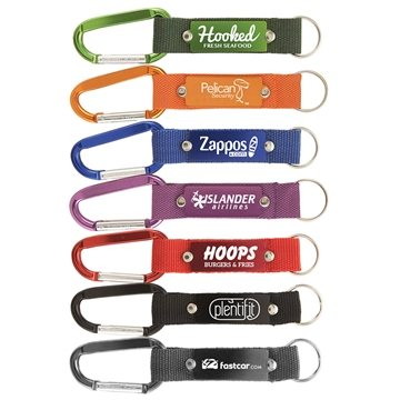 Strap Happy Carabiner with Metal Plate
