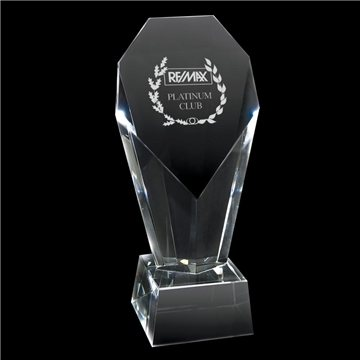Crystal Trophy (Large Heart)