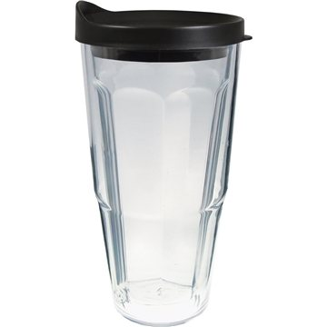 24 oz Thermal Travel Tumbler with Clear Printed Insert - Plastic