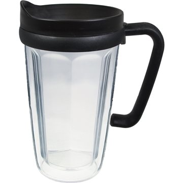 16 oz Thermal Travel Mug with Printed Insert - Clear Film - Plastic