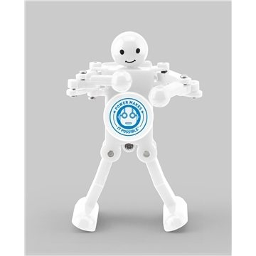 White Shadow Dancing Robot