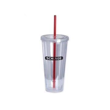 The Last Straw II 20 oz Double-Wall Acrylic Cup - Red