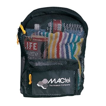 Nylon Mesh Backpack with Zippered Main Compartment