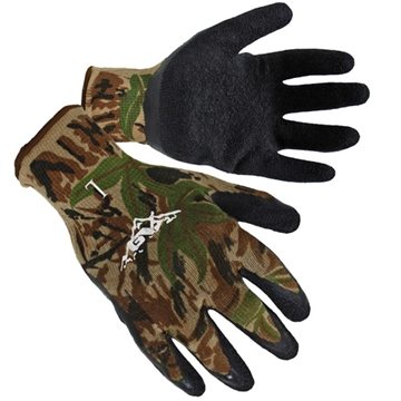Camo Textured Latex Palm Coated Gloves