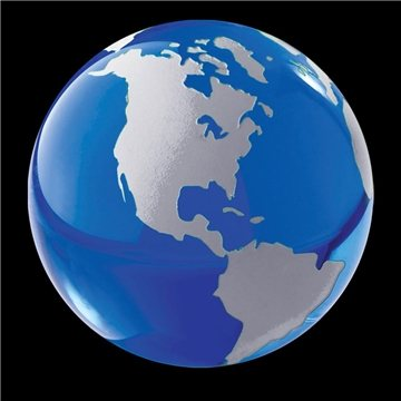 Crystal Globe Paperweight (Blue)