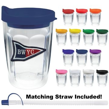 14 oz Thermal Travel Tumbler Embroidered Emblem - Plastic