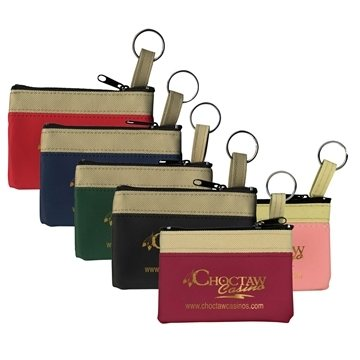 The SAFARI Classic Zip Pouch with Key Ring