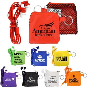 Sporty Tech Pouch with Ear Buds