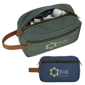 Cotton Duck Zippered Travel Bag