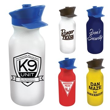 20 oz Value Cycle Bottle with Police Hat Push 'n Pull Cap
