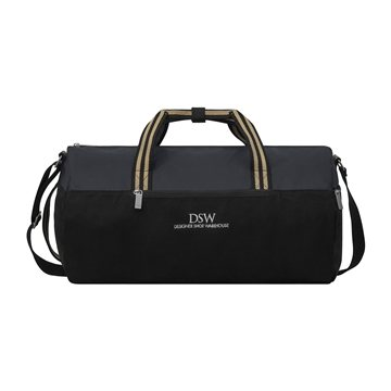 Charlie Cotton Barrel Duffel - Black