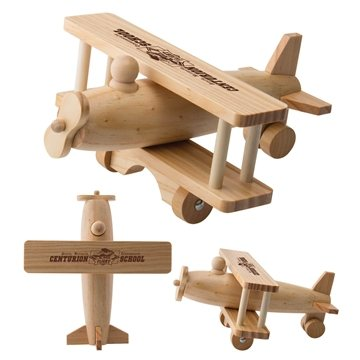 Wooden Rolling Toy Airplane