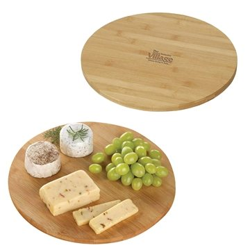 Bamboo Lazy Susan Rotating Serving Plate
