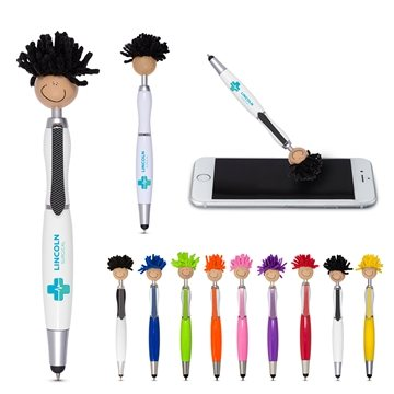 Multicultural MopToppers® Screen Cleaner with Stylus Pen (Tan Skin Color)