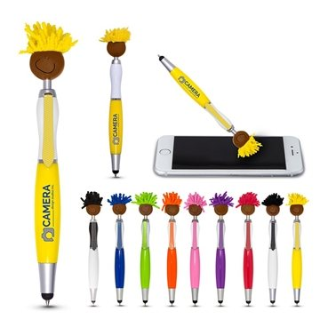 Multi-Culture Moptopper™ Screen Cleaner With Stylus Pen (Brown Skin Color)