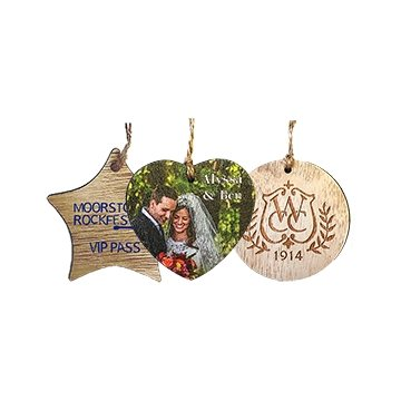 Rustic Wood Ornaments with Twine String
