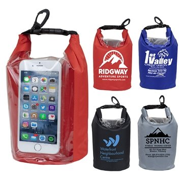 ''The Navagio'' 2.5 Liter Water Resistant Dry Bag With Clear Pocket Window